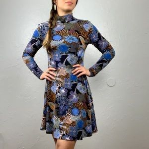 H&M floral turtleneck dress size Small